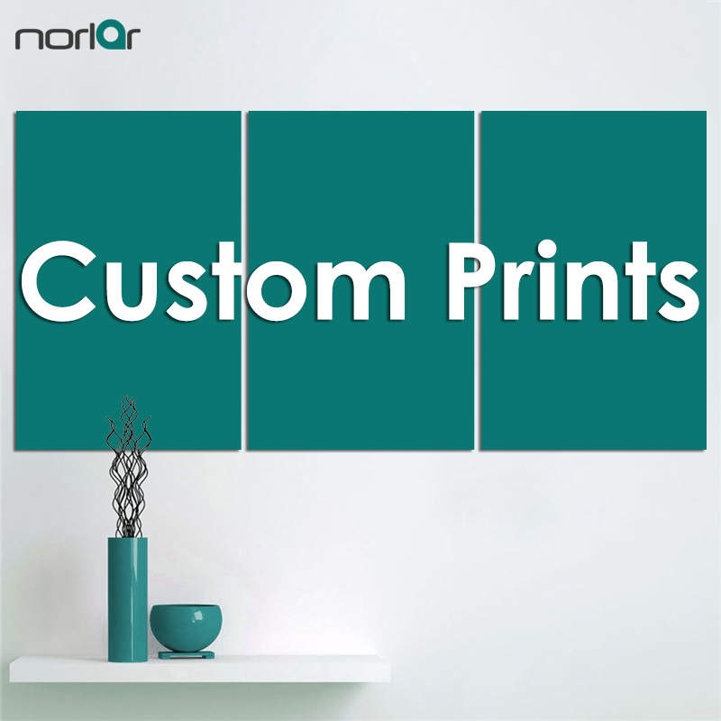Buyer Custom Print Three-picture Combination canvas Wall Painting Picture Home Decoration Unframed