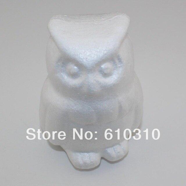 CCINEE atacado 8x12 cm coruja Artesanato bola de espuma de isopor branco  natural animal diy artesanal 5ea5bf7c86da0