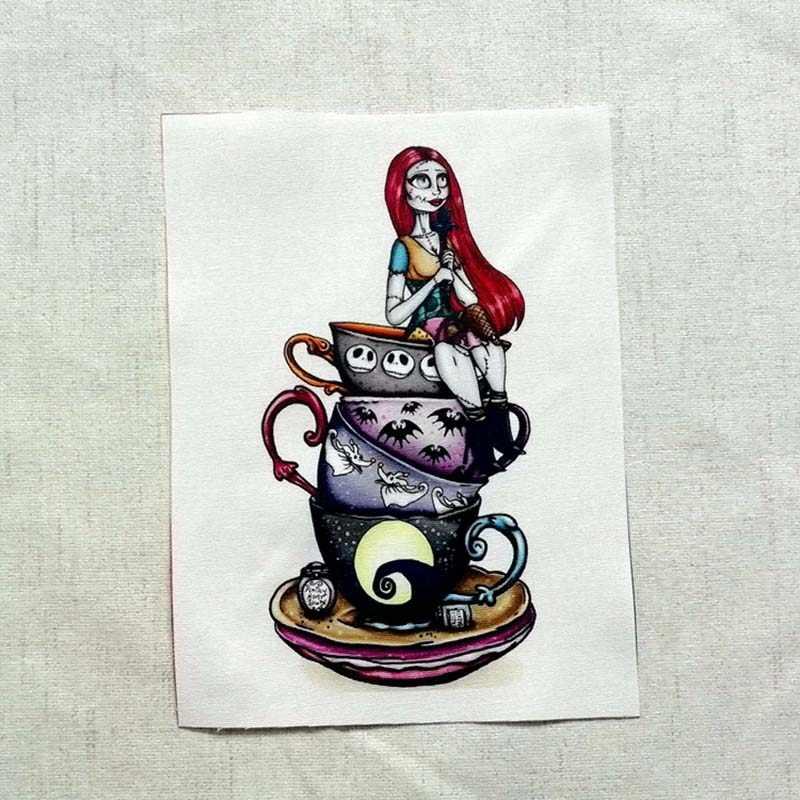 15*20 см 4 шт. Рождество Ночь череп футболка с дизайном цифровой печати лоскутное 100% хлопок DIY Ткань для шитья лоскутное украшение D20