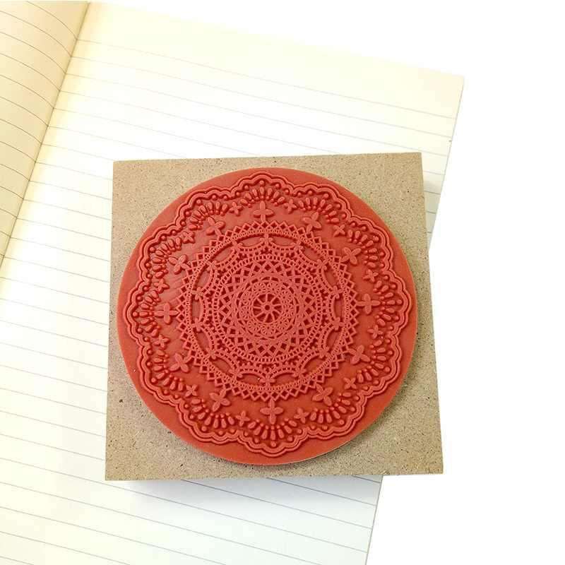 1 шт./партия специальные предложения квадратные DIY Скрапбукинг кружевные штампы Винтажные Цветы деревянные резиновые ремесленные прозрачные штампы для scrapbooking