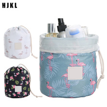 HJKL New Fashion Ladies Drawstring Travel Cosmetic Bag Hot Round Waterproof Toiletries Storage Consolidation AccessoriesCosmetic