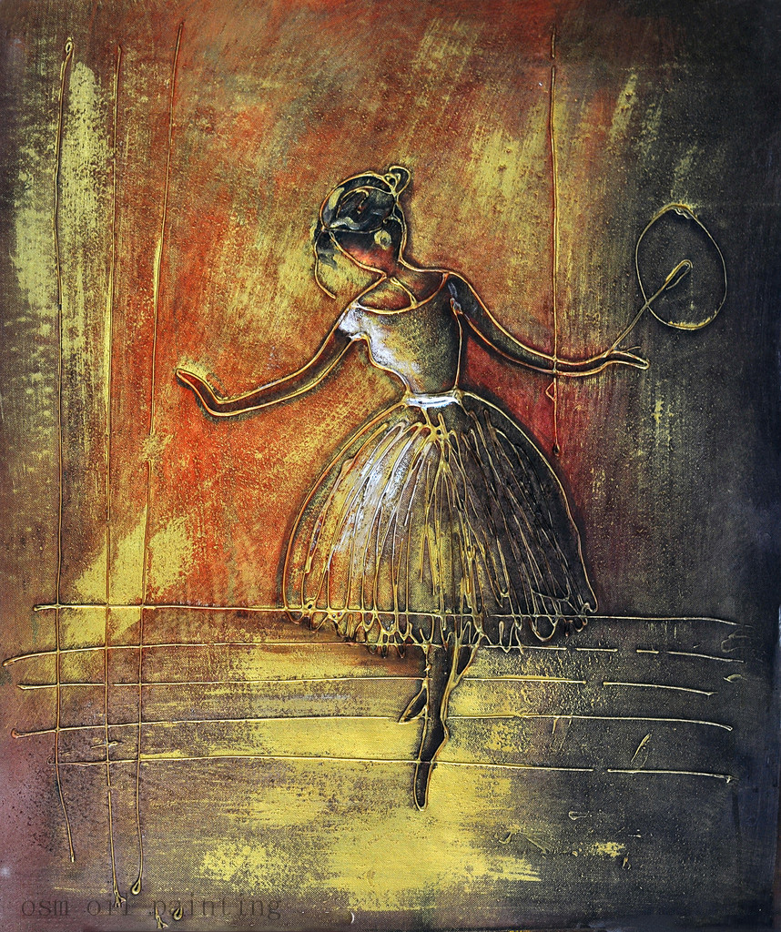 Top Sale Elegance Lady is Dancing Oil Painting Hand Painted Abstract Digital Wall Art Painting on Canvas for Living Room