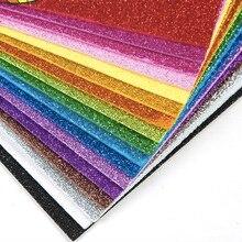 10 листов блестящей пенопластовой бумаги блестящая бумага для детских ремесленных мероприятий DIY резаки Сверкающие Золотые ручной работы пенопластовые бумажные листы