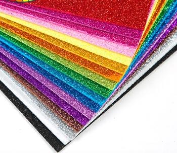 10 arkuszy brokatowy papier piankowy błyszczy papier do działalności rzemieślniczej dla dzieci DIY frezy błyszczące złote rzemieślnicze arkusze papieru piankowego tanie i dobre opinie GUIRONGXIN 19*29 5cm