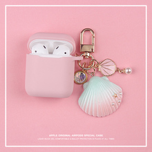 Cute Seashell Silicone Case for Apple Airpods Case Air pods Accessories Bluetooth Earphone Headphone Protective Cover цена и фото