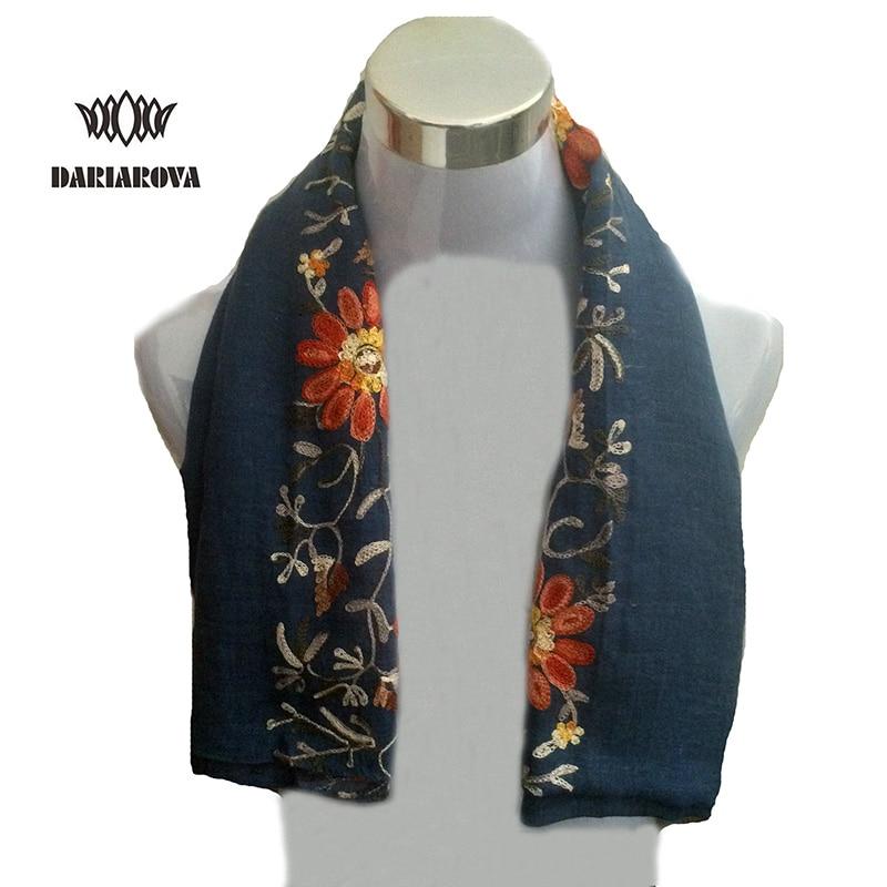 [DARIAROVA]High Fashion Winter Floral Embroidery Scarf s