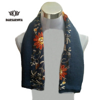 New Autumn Winter Nepal Style Embroidered Scarf Women High Quality Warm Soft Scarves Female Flower Cotton