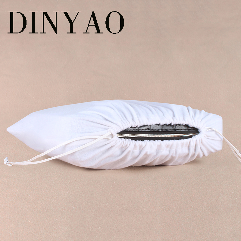 1pcs/lot 48*39cm High Quality Cotton Custom Logo Printed Drawstring White Gift Bags Clothing Bags Dust-proof Packaging Bags