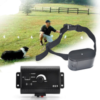 Dog Trainings Plastic Dog Training Collar Hidden Fencing System EU UK AU US Plug Black Dog