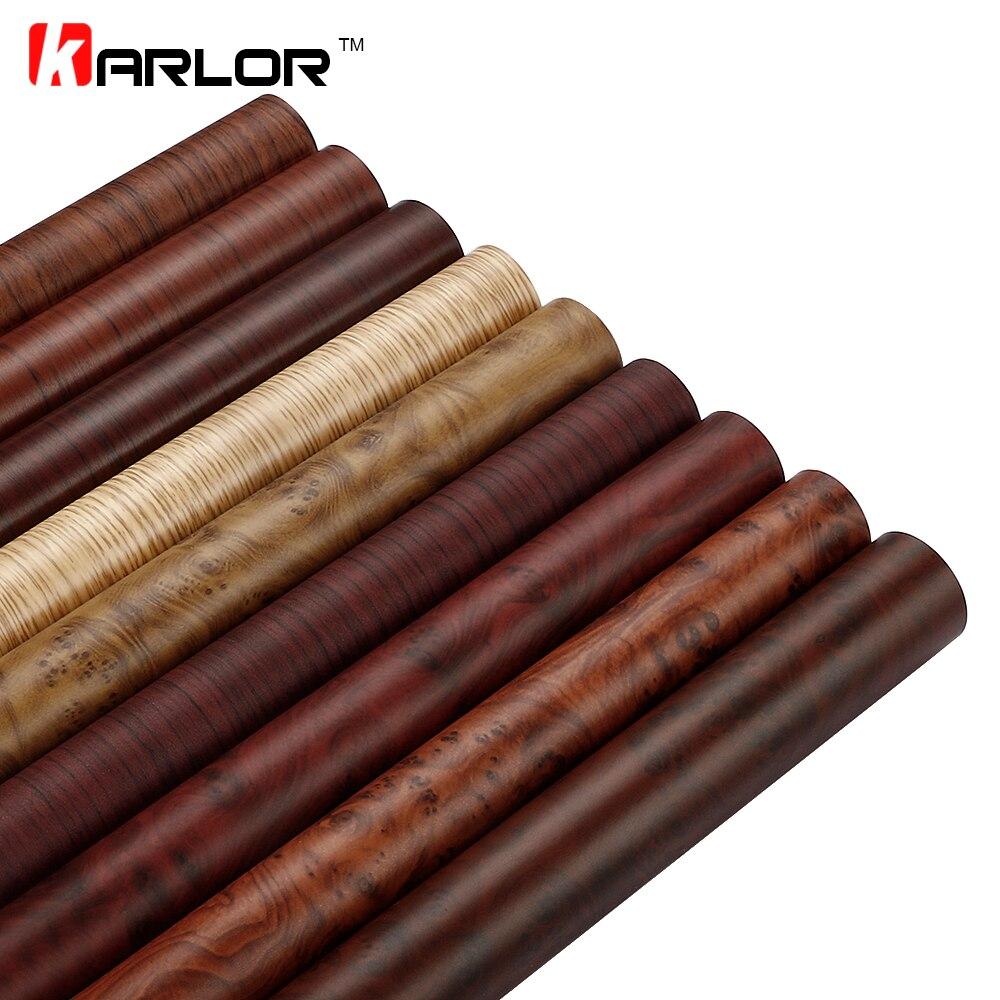 50x200 cm Color cambio madera grano vinilo película muebles madera grano textura pegatina coche interno autoadhesivo etiqueta de estilo de coche