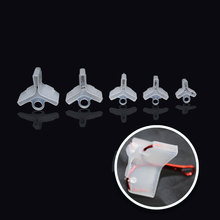 50PCS Plastic Treble Hook Protectors Covers for Fishing Lures 5 Sizes Holders Suit for Treble Size 1 2 3 1/0 2/0 3/0 Tool