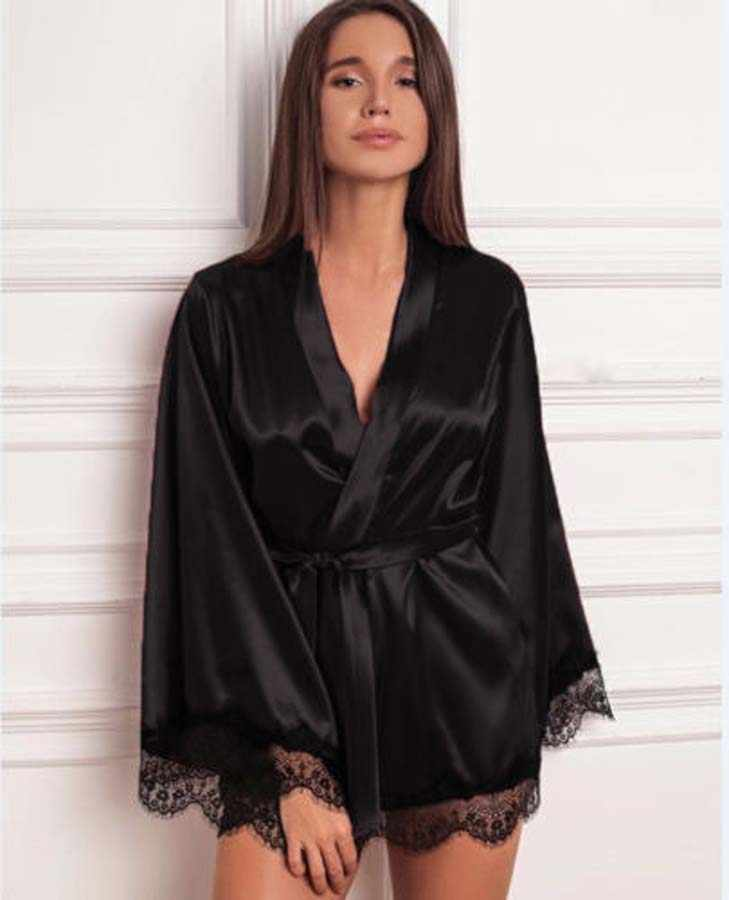 Detail Feedback Questions About Women Satin Silk Kimono Robe