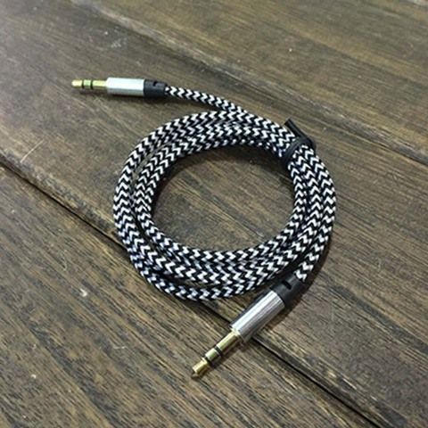 1M Audio Cable Braided 3.5MM Jacks Male To Male Audio Cable AUX  Plug For Mobile Phone MP3 Player Speakers Karachi