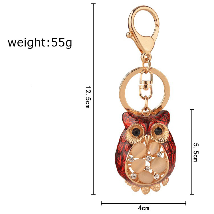 luxury keychains opal owl key chain for girls key rings womens animal keychains  for keys lady bags car key pendants chains-in Key Chains from Jewelry ... b323bcd27a