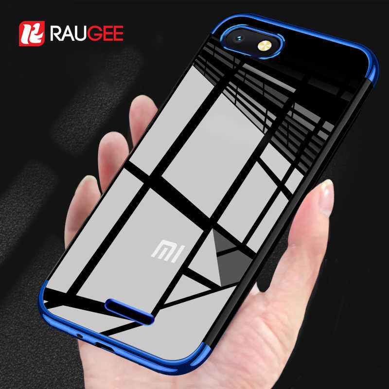 1177765c4a7 Case For Xiaomi Redmi 6A Case Plating Clear Bumper Silicone TPU Transparent Back  Cover Case For