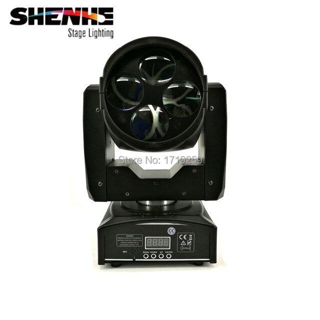 2pcs/lot 4x10W Mini LED Moving Head Lighting Super Beam 55W Hight PowerWhite 3 color + open LED Color Wheels Rotate Lens