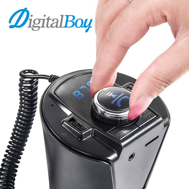 Digitalboy Bluetooth Car Kit MP3 Player Wireless Handsfree FM Transmitter Dual USB Car Charger TF U Disk Car Audio Music Player
