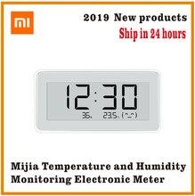 Smartwatch xiaomi mijia bt4.0, relógio digital inteligente, elétrico sem fio, interno e externo, termômetro, higrômetro, lcd, ferramentas de medição de temperatura