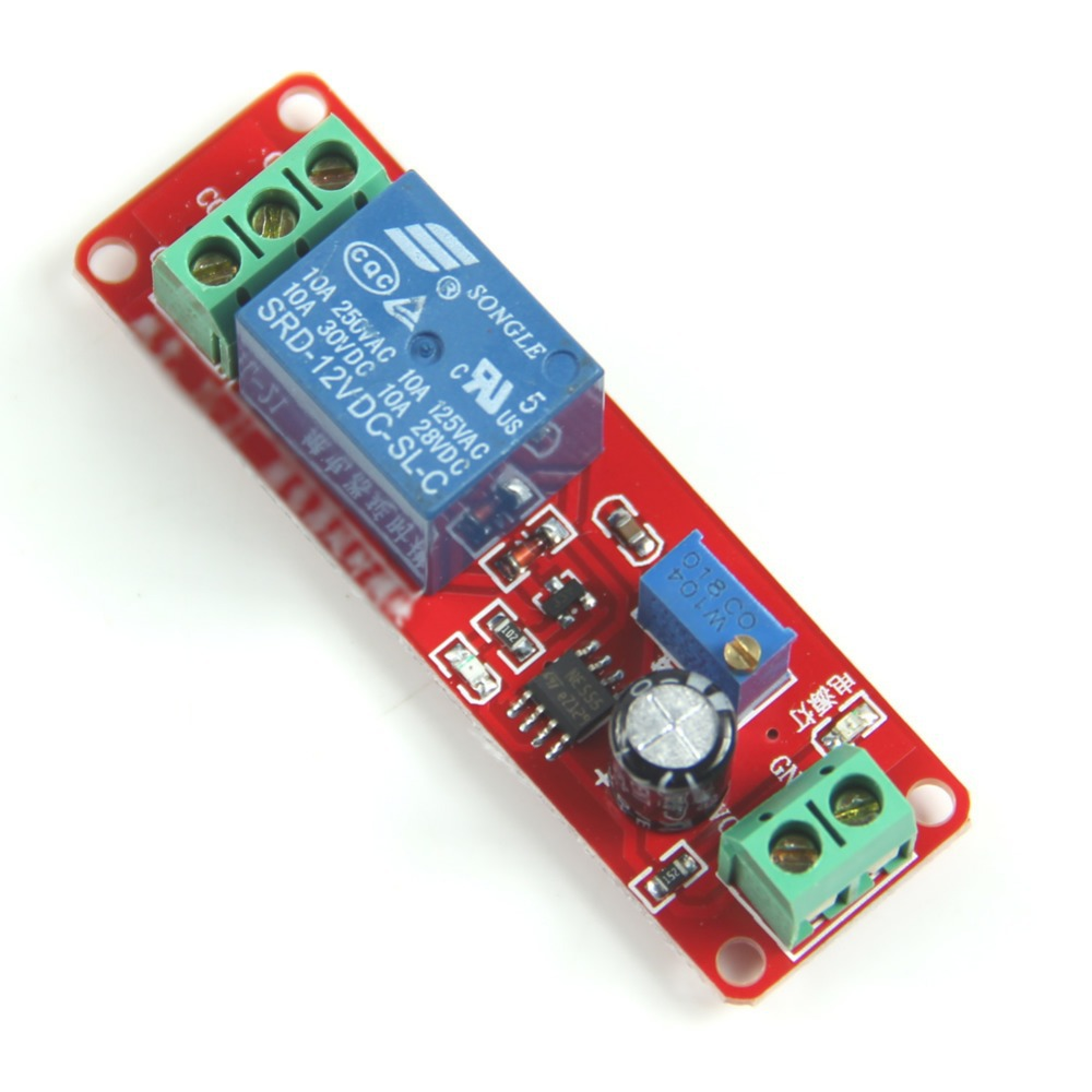 New DC 12V Delay Timer Switch Adjustable Module 0 to 10 Second dc 12v led display digital delay timer control switch module plc automation new 828 promotion