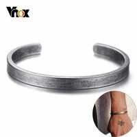 Vnox Vintage vikingo Pulseras brazaletes para hombres mujeres Simple clásico Pulseras hombre Acero inoxidable joyería masculina