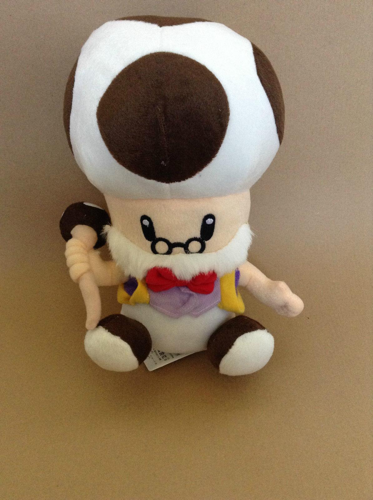 Super Mario Luma Bros Plush Old Man Toad Toadsworth 10in