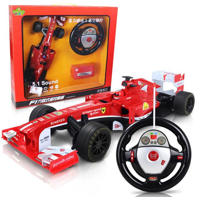 El más nuevo diseño 1:12 fórmula rc drift car toys control del volante de control remoto para los niños