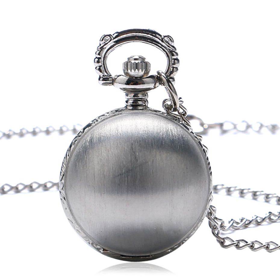 Lovely Silver Color Small Ball Shape Pocket Watch Men Necklace Pendant Fob Watches For Kids Children Birthday Gifts