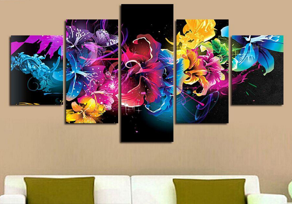 5 Panels Painting Canvas Wall Art Picture Wall Pictures