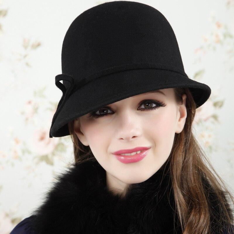 d5b2b3da25917 Fashion woolen cap spring and autumn winter fedoras winter hats for women