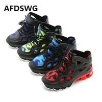 AFDSWG Spring And Autumn PU Breathable High To Help Yellow Leisure Boys Shoes Sports Fashion Girl