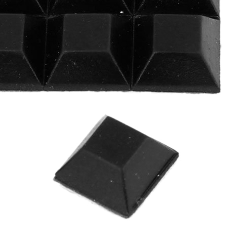 LHLL!Chair Furniture Square 12mmx12mmx6mm Self Adhesive Rubber Pads