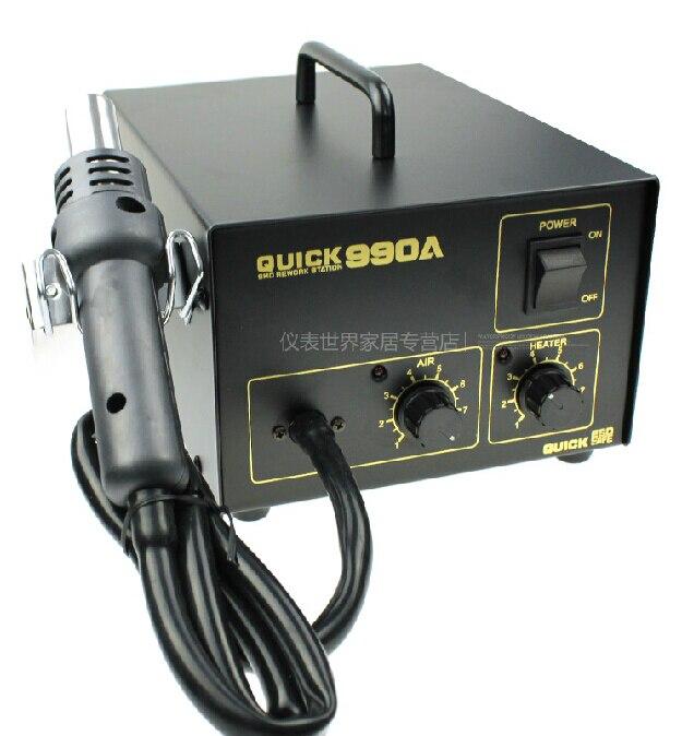 Быстрый трещина 990a антистатические Мощность 270 Вт SMD паяльная станция с фена управляемой объем воздуха