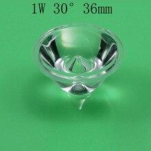 10 шт./партия, светодиодный объектив диаметром 30 градусов поверхности объектива 36 мм, высота 1 Вт, светодиодный объектив 17 мм, светодиодный объектив PMMA