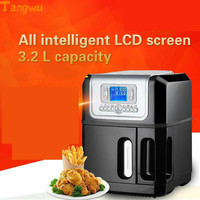 Free Shipping The Third Generation Of The Whole Intelligent Large Capacity Without Oil Electric Deep Fryers