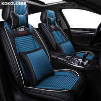 KOKOLOLEE flax car seat covers For Suzuki Swift Wagon GRAND VITARA Jimny Liana 2 Sedan Vitara sx4 auto accessories car styling