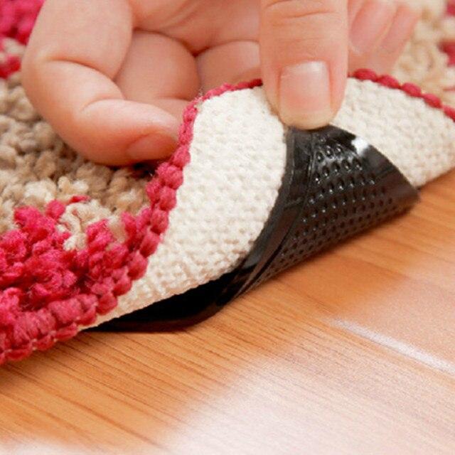 Y140 Tappeto tappeto 4 pz/set Mat Pinze Non Slittamento Anti-skid Riutilizzabile Lavabile Grip Per Bagno di Casa Soggiorno tappeto Accessorio