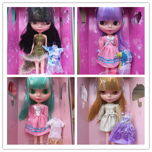 Blyth change makeup doll ICY Nude Blyth doll With 2set clothes+shoes Suitable For Dress up DIY Change BJD Toy girls gold bangs фен elchim 8th sense icy silver 03082 32