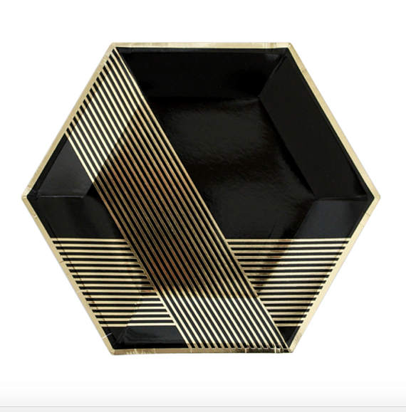 Free Shipping Black Foiled Gold Disposable Tableware set Paper Plates Napkins Cups Straws Birthday Party Wedding Christma Decor-in Disposable Party ...  sc 1 st  AliExpress.com & Free Shipping Black Foiled Gold Disposable Tableware set Paper ...