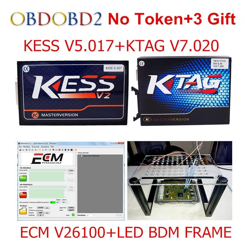 Master Online KESS V5 017 V2 23 KTAG V7 020 V2 23 LED BDM FRAME No