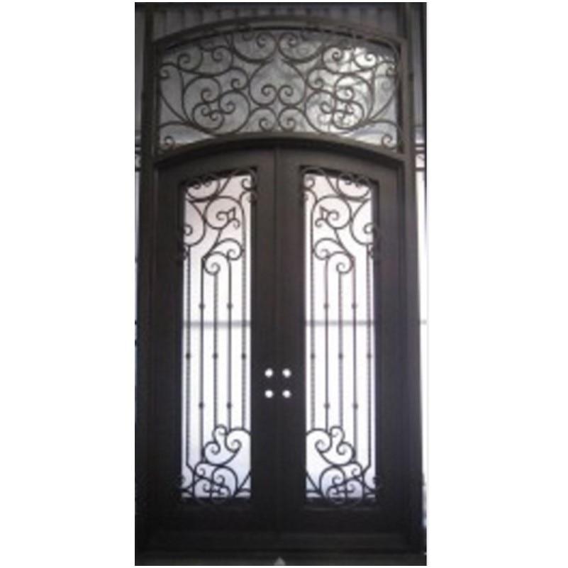 Hench 100% Steel Metal Iron Metal Glass Double Entry Doors