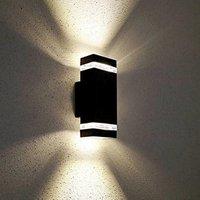 Lámpara de noche Led de doble cabeza para exteriores  luz de jardín para exteriores  luz de pared impermeable para exteriores|Lámparas de pared| |  -
