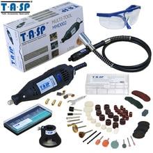 TASP Rusia Mini Taladro Eléctrico 130 W Herramienta Rotatoria con Eje Flexible y Accesorios Set