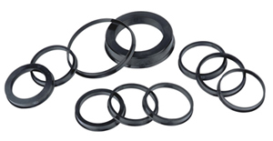 Image 2 - 73.1 66.1mm 20pcs Black Plastic Wheel Hub Centric Ring Custom Size Available Wheel Rim Parts Accessories Wholesale Free Shipping
