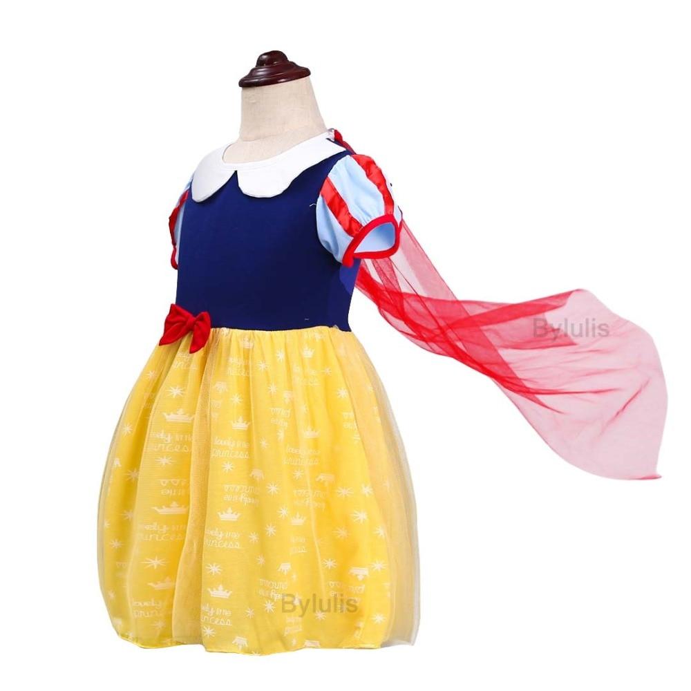 Halloween Girls Princess Fancy Dress Up Costume Outfits: Children Girls Snow White Cosplay Princess Dress Kids