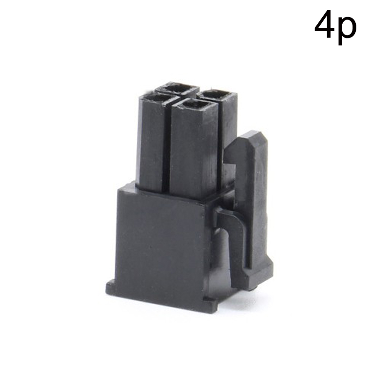 10pcs 4.2mm Pitch 5557 4p Plastic Shell Connector Terminals Socket Black For Computer ATX Power Supply Cars