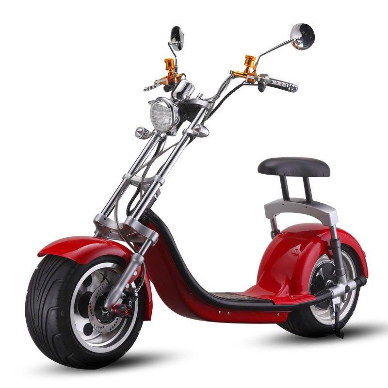 200 кг нагрузки Harley электрические скутеры Галлей Смарт электрический автомобиль скутер 60 В в/1000 Вт бесщеточный двигатель литиевая батарея