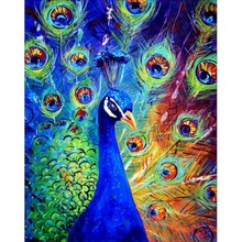 5D DIY Diamond Embroidery Set Full Square Drill  Painting Picture Of Stones Animals Peacock Wall Decor