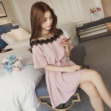7bcee437b 4xl más las mujeres grandes del tamaño que arropan 2018 estilo del verano  del resorte coreano nuevo malla puntada Rosa negro lin.