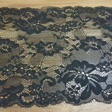 100 yards Black Nylon Lace DIY Flowers Net Fabric White Non-Stretch For Sewing Wedding Decoration 17cm width