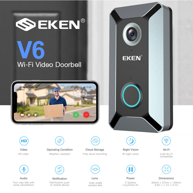 Smart WIFI Doorbell (720P video camera)